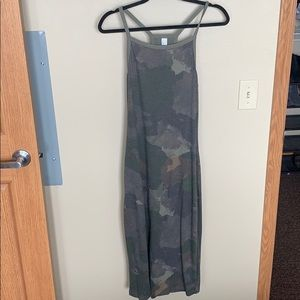 Fitted Camo Midi Dress